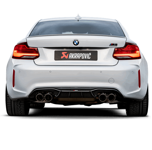 BMW M2 F87 Competition Akrapovic Slip-On Titanium Exhaust